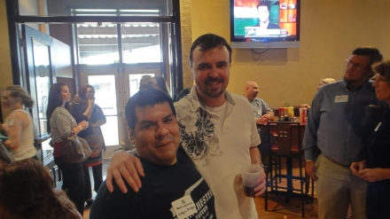 Andy Valverde with fan Scott Scratten of Unmarketing fame